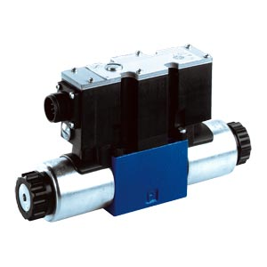 4WRA(E) 4/2 and 4/3 proportional directional valves, direct operated, without electrical position feedback, without/with integrated electronics (OBE)